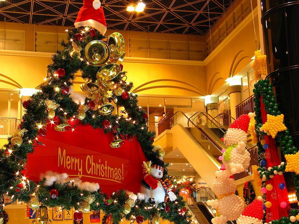 Rink Santa Villageと六甲アイランドクリスマス夜景 壁紙写真集 無料写真素材