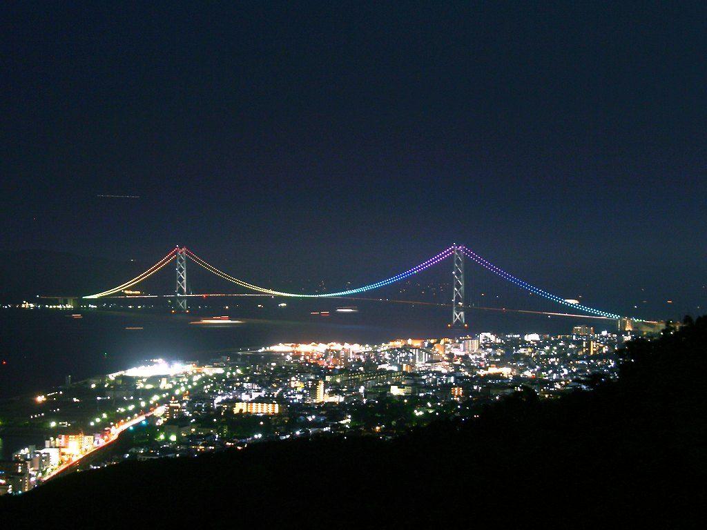 神戸須磨浦山上遊園・鉢伏山の夜景[壁紙写真集-無料写真素材]