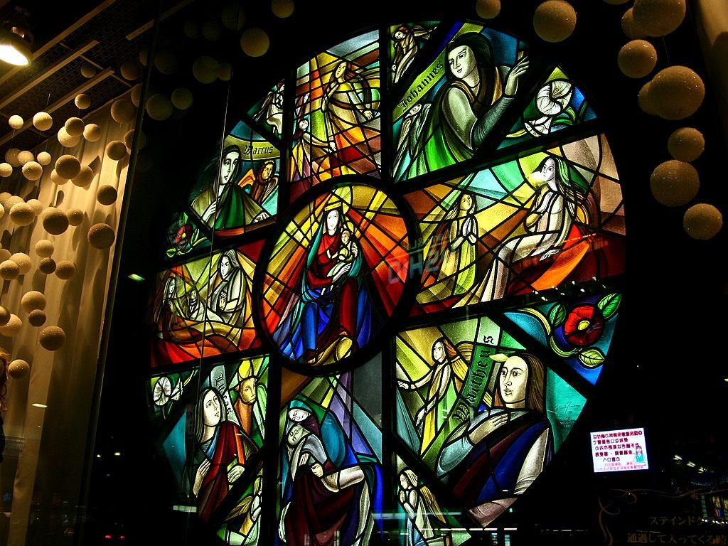 Himeji Wintopia 姫路ウイントピア ステンドグラスのガラスモザイク 壁紙写真集 無料写真素材