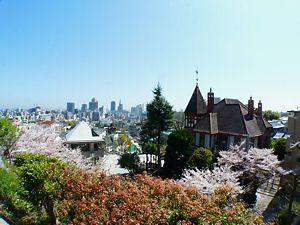 異人館街と神戸の風景